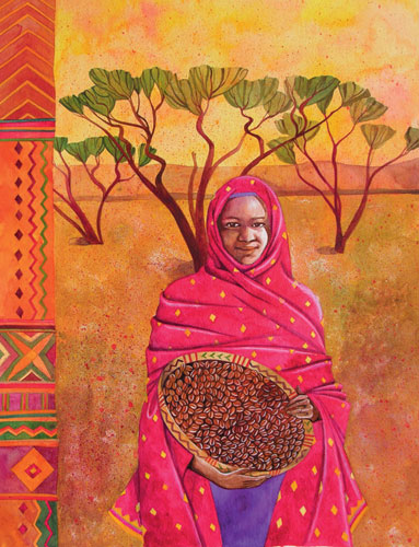 'The Sudan' ,illustration for 'A World in Your Kitchen' calendar